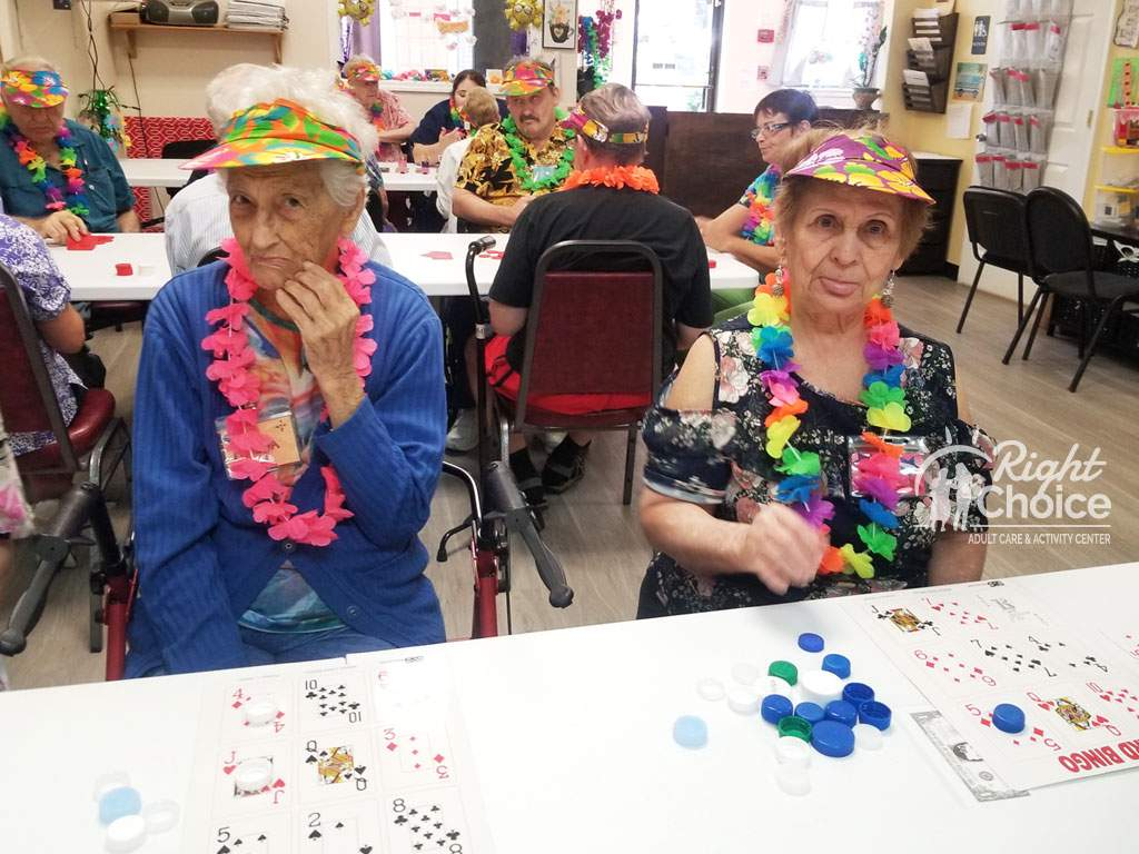 playing-bingo-at-right-choice-adult-day-care
